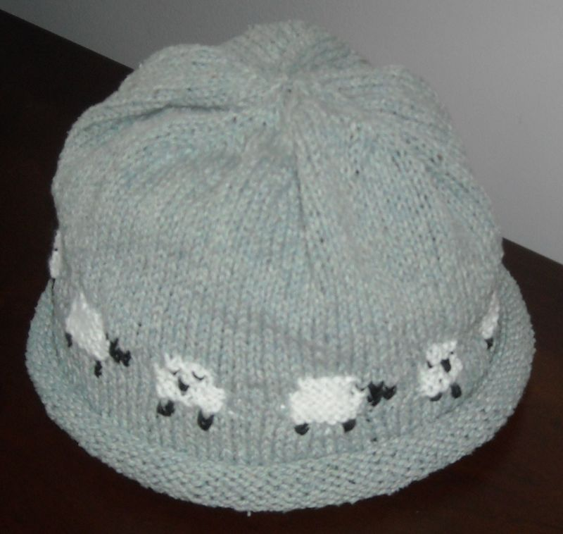 Sheep motif hat 004