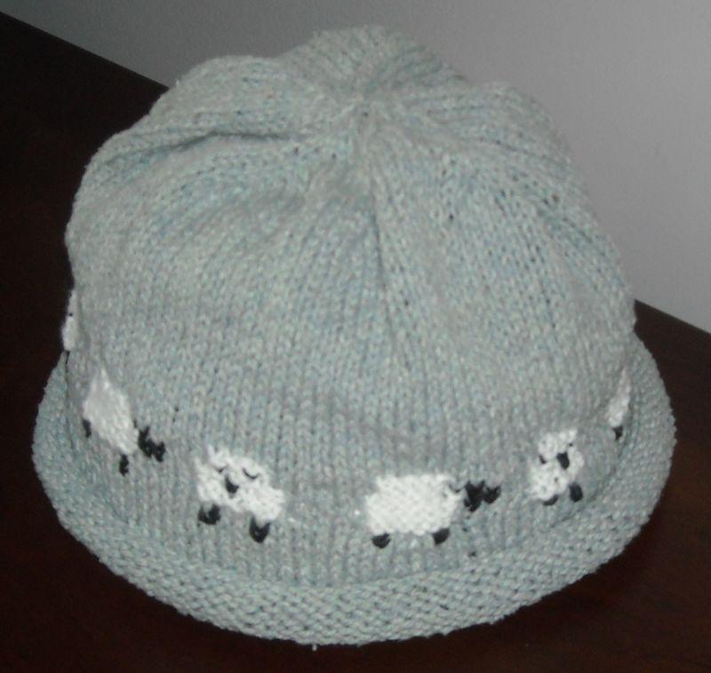 Sheep motif hat 004