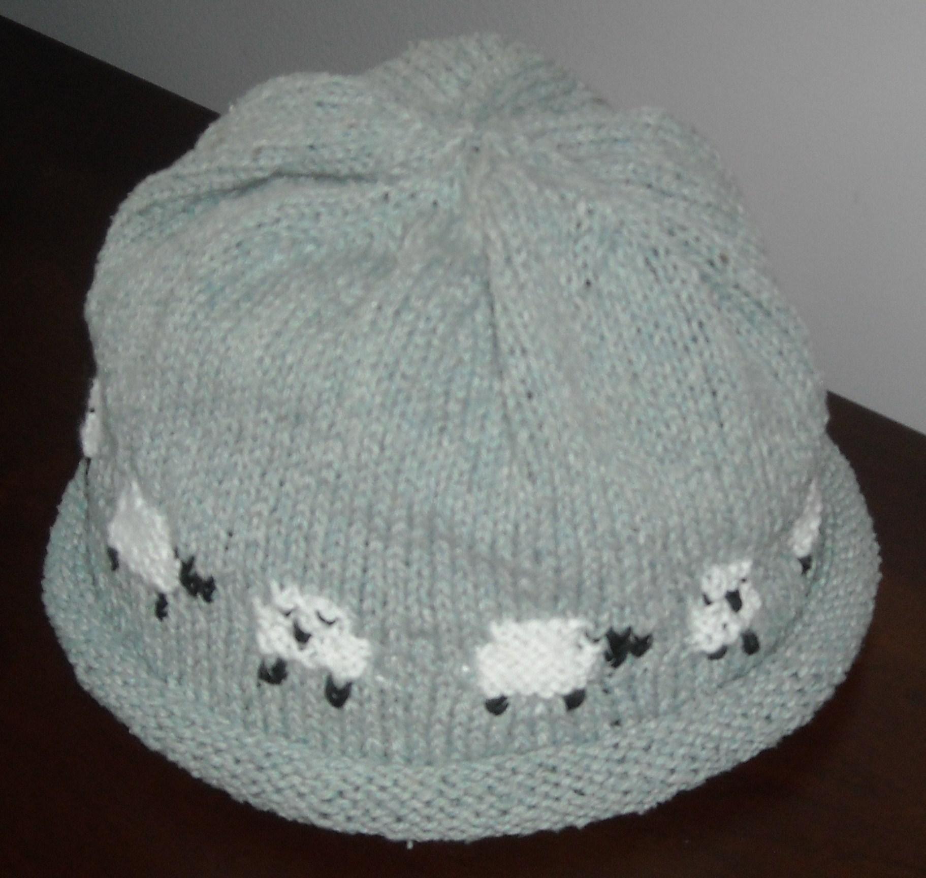 Sheep Motif Hat -- DONE! - Wool Free and Lovin  Knit 1f5e2f6b9e0