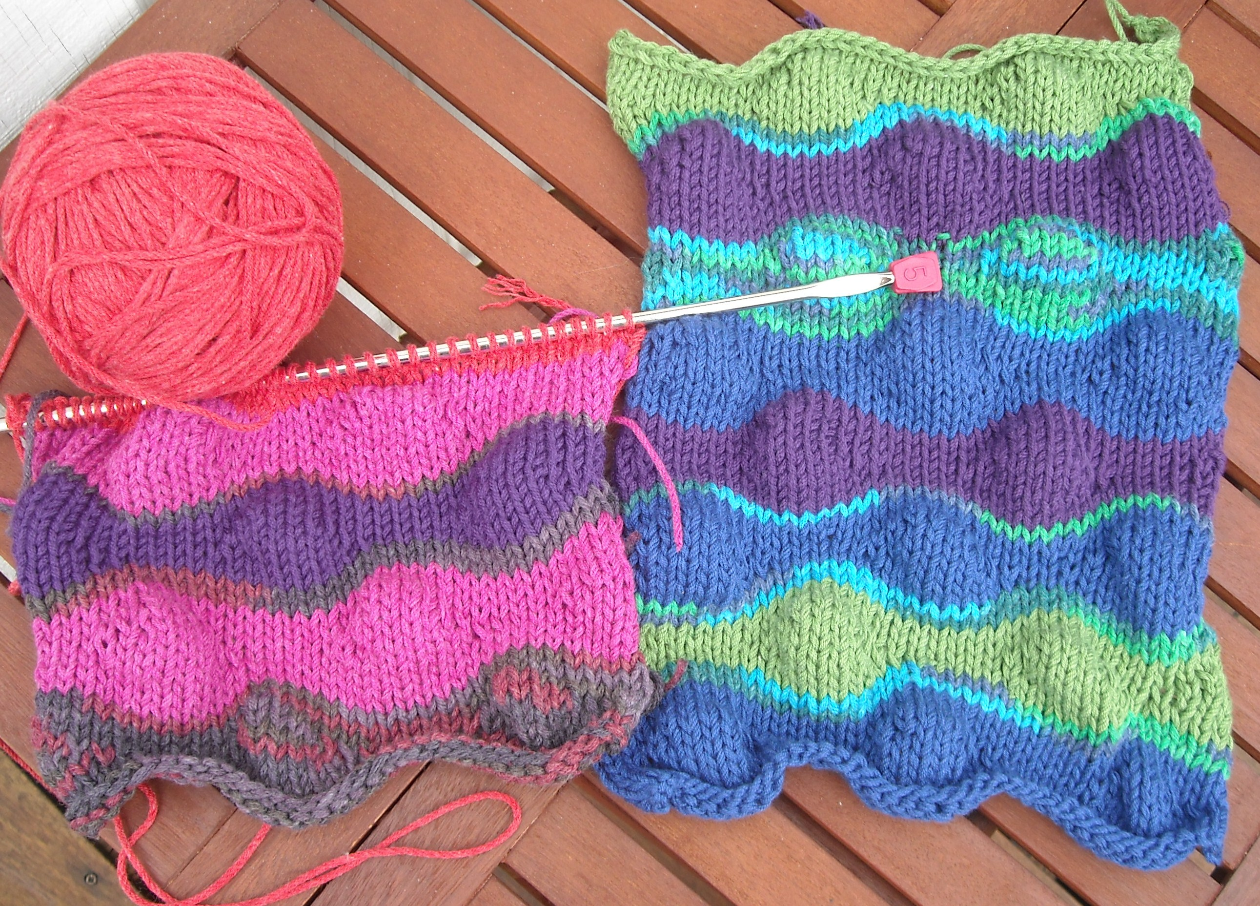 Lizard Ridge sans Wrapping - Wool Free and Lovin\' Knit