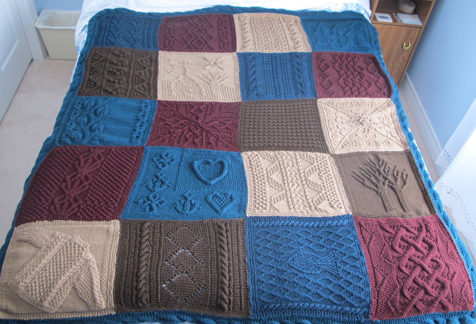 The Great American Aran Afghan Is Complete Wool Free And Lovin Knit