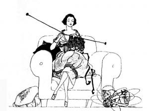 Knitting-woman