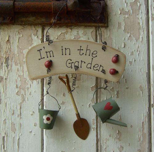 Lge garden sign