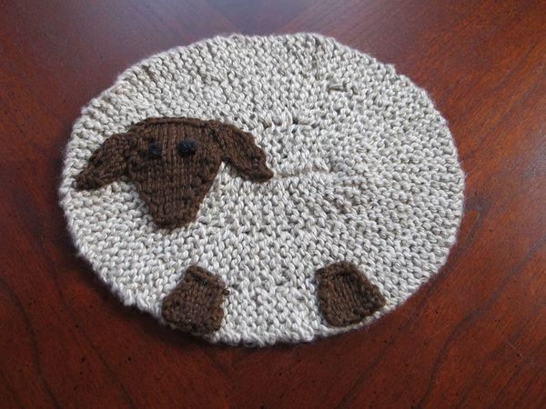 A Sheeps Mug Mat Wool Free And Lovin Knit