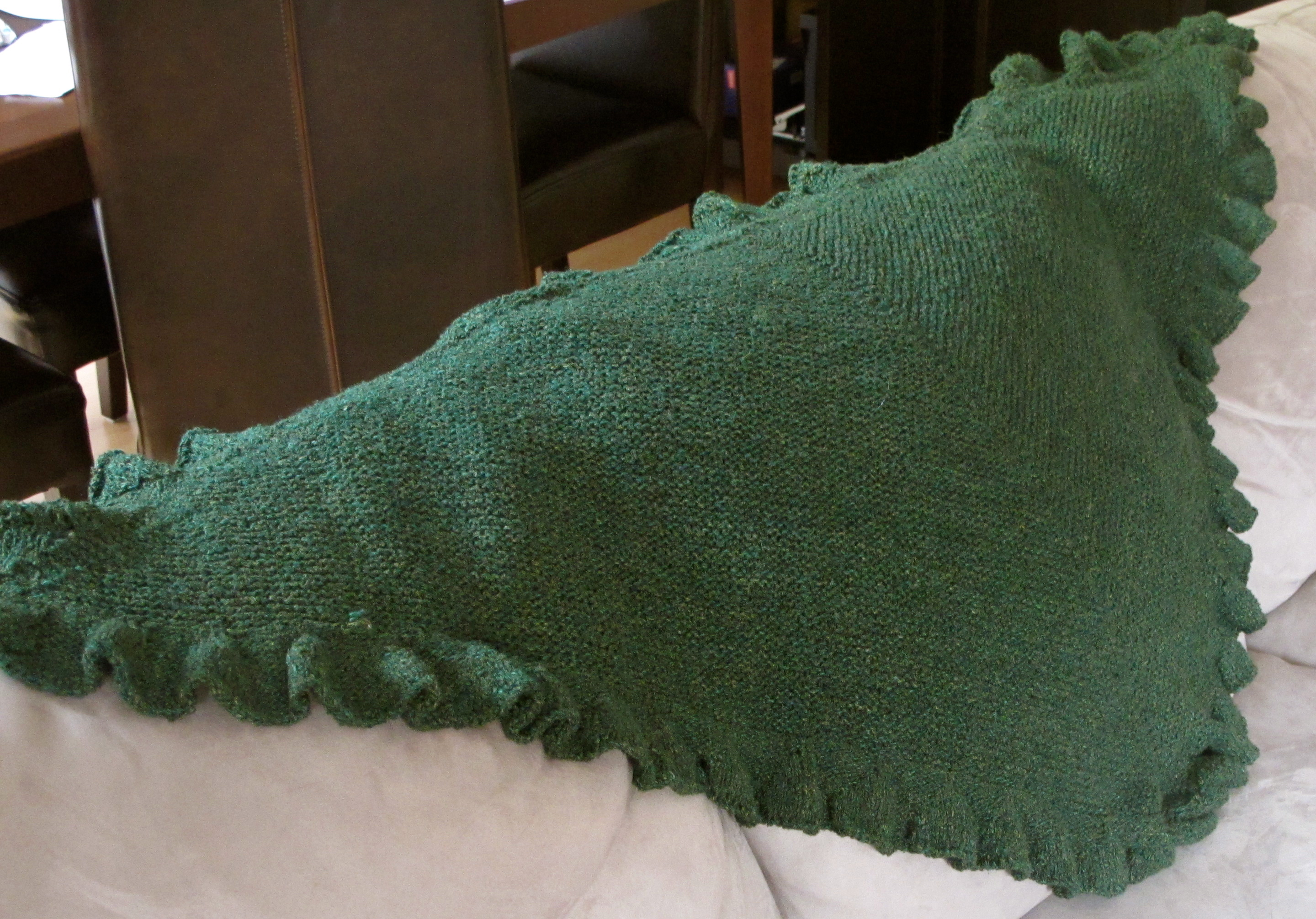 Milk run Shawl is Complete -- Another WIP off the needles! - Wool ...