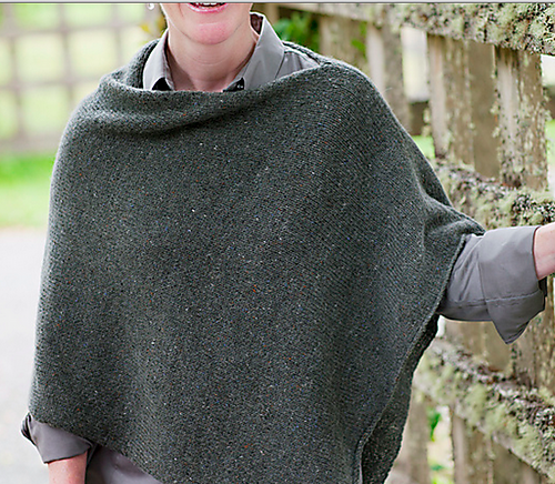 Easy Folded Poncho Knit Along Wool Free And Lovin Knit