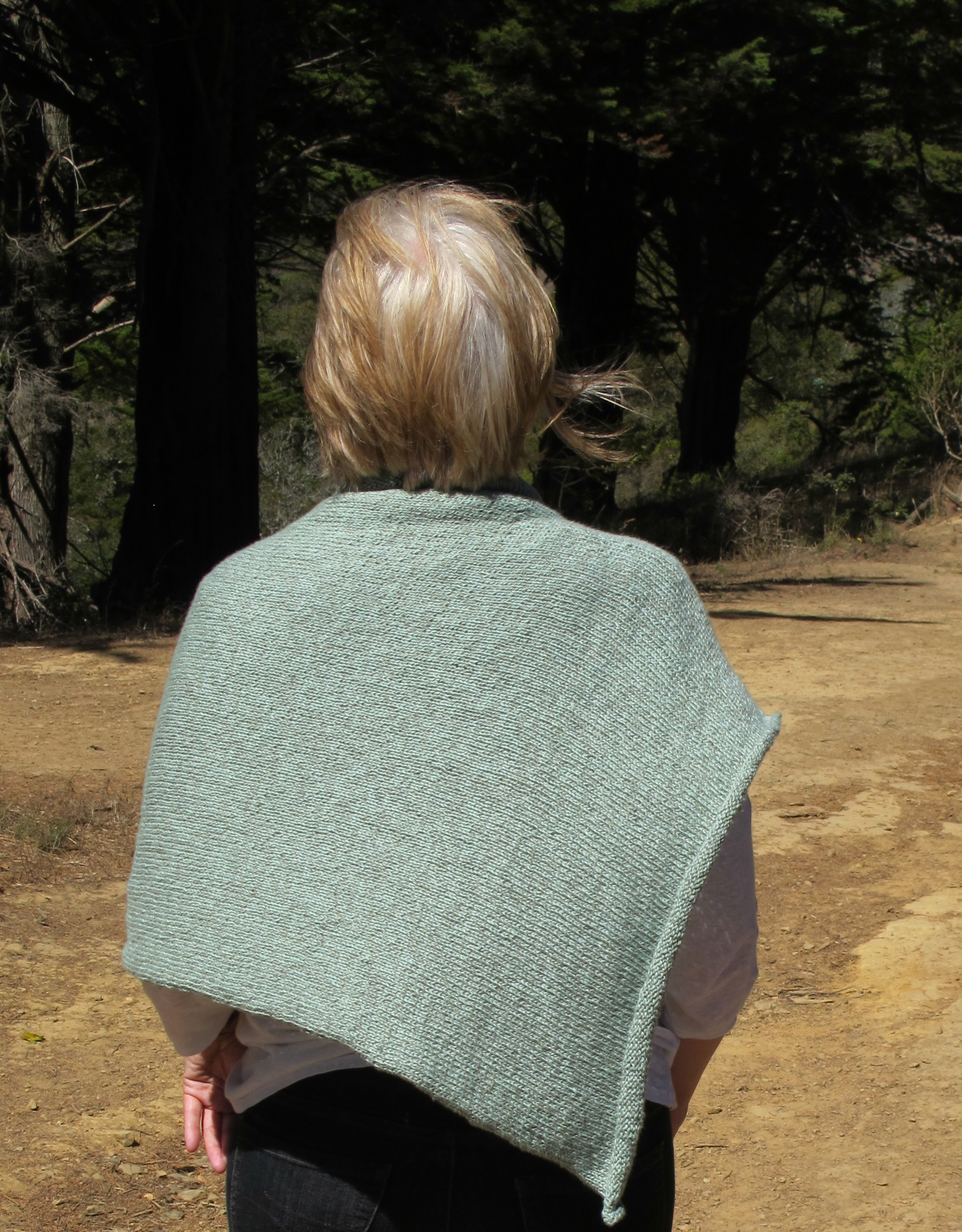 Easy Folded Poncho with Cowl Neckline - Wool Free and Lovin\' Knit