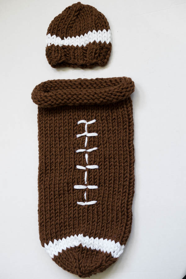 Wool Free and Lovin' Knit Football cocoon-3