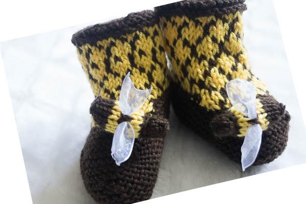 Bee booties-3
