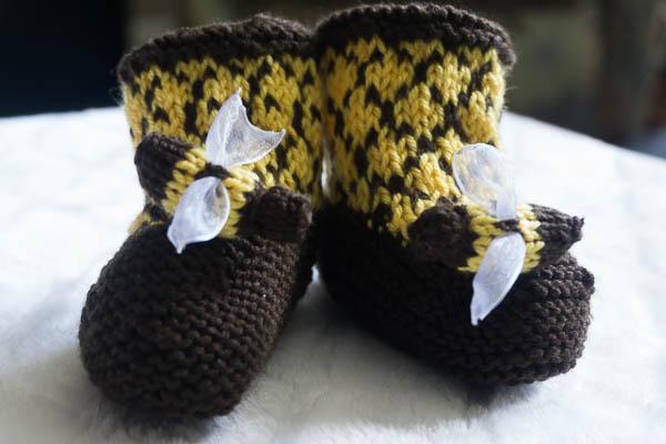Bee booties-1-2